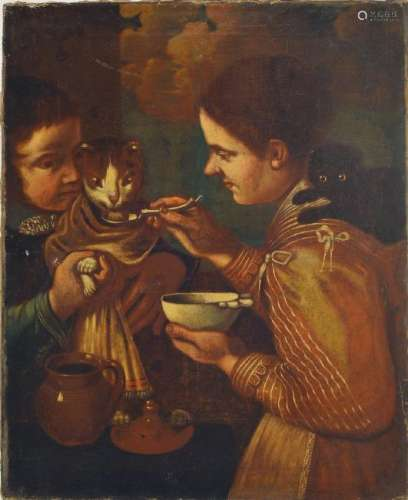 early Baroque painting, Netherlands, around 1670, two
