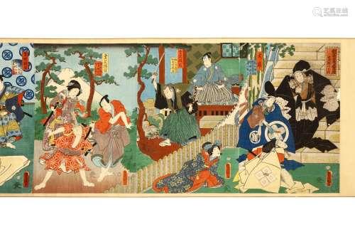 UTAGAWA KUNISADA (1786 - 1865). Woodblock prints,