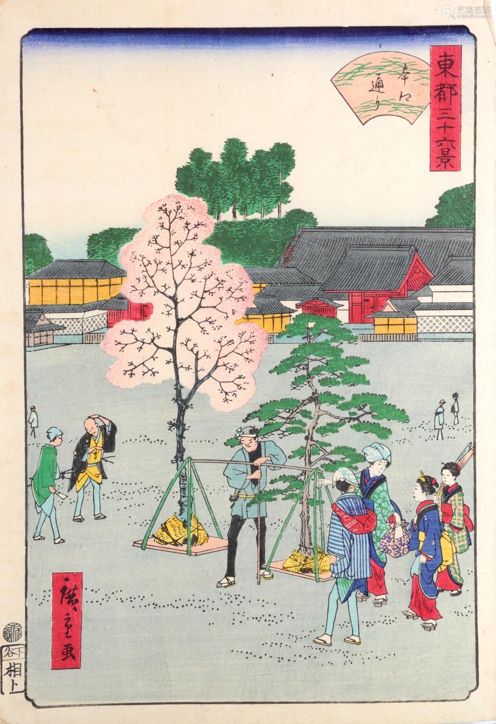 UTAGAWA HIROSHIGE II (1826 - 1869) Woodblock print