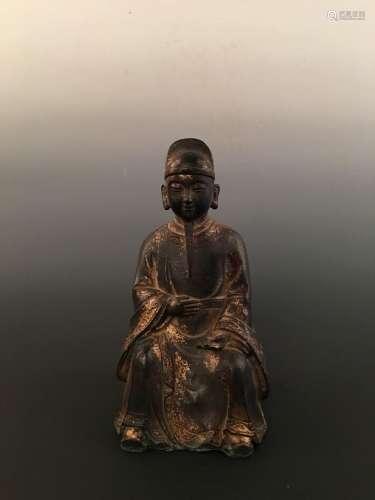Chinese Gilt Bronze Figure Statue