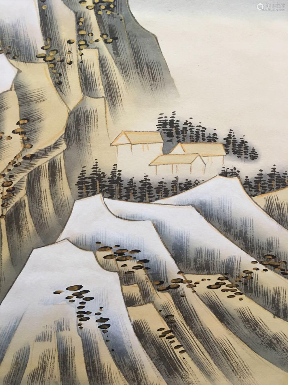 Chinese Hanging Scroll Snow Landscape
