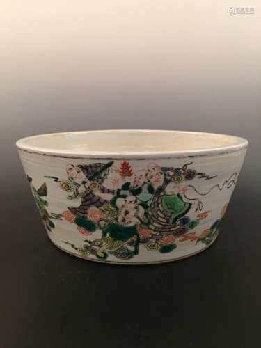 Chinese Wucai Porcelain Container