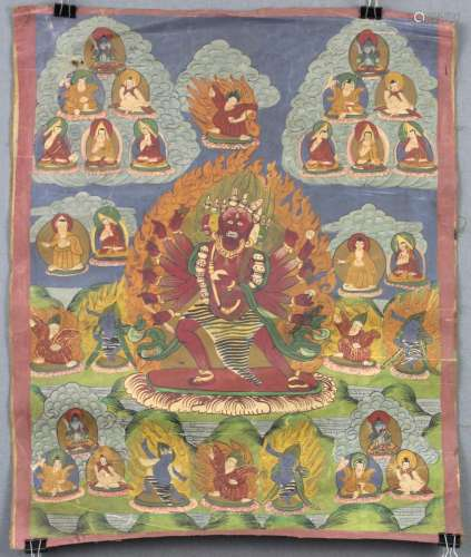 Cri Chakrasamvara ? Thangka, China / Tibet old.