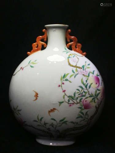 A Famille Rose 'Longevity' Vase