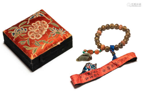 19th Chinese Antique Agarwood Prayer Beads