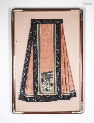 19th Antique Silk Embroidered Skirt