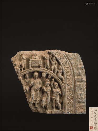 3-4世纪 供养说法图石碑
