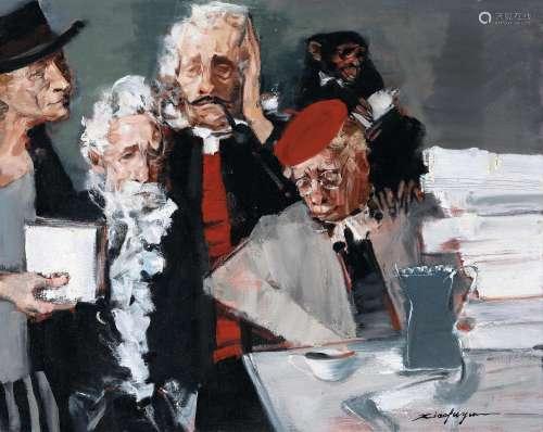 俞晓夫(B.1950) 朋友 布面油画