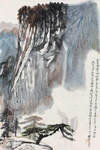 何海霞(1908~1998) 1978年作 西岳峥嵘 镜心 设色纸本