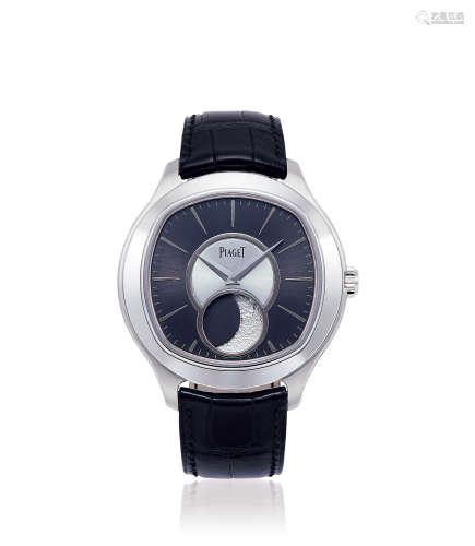 伯爵 BLACK-TIE系列 18K白金 自动上弦腕表 月相显示