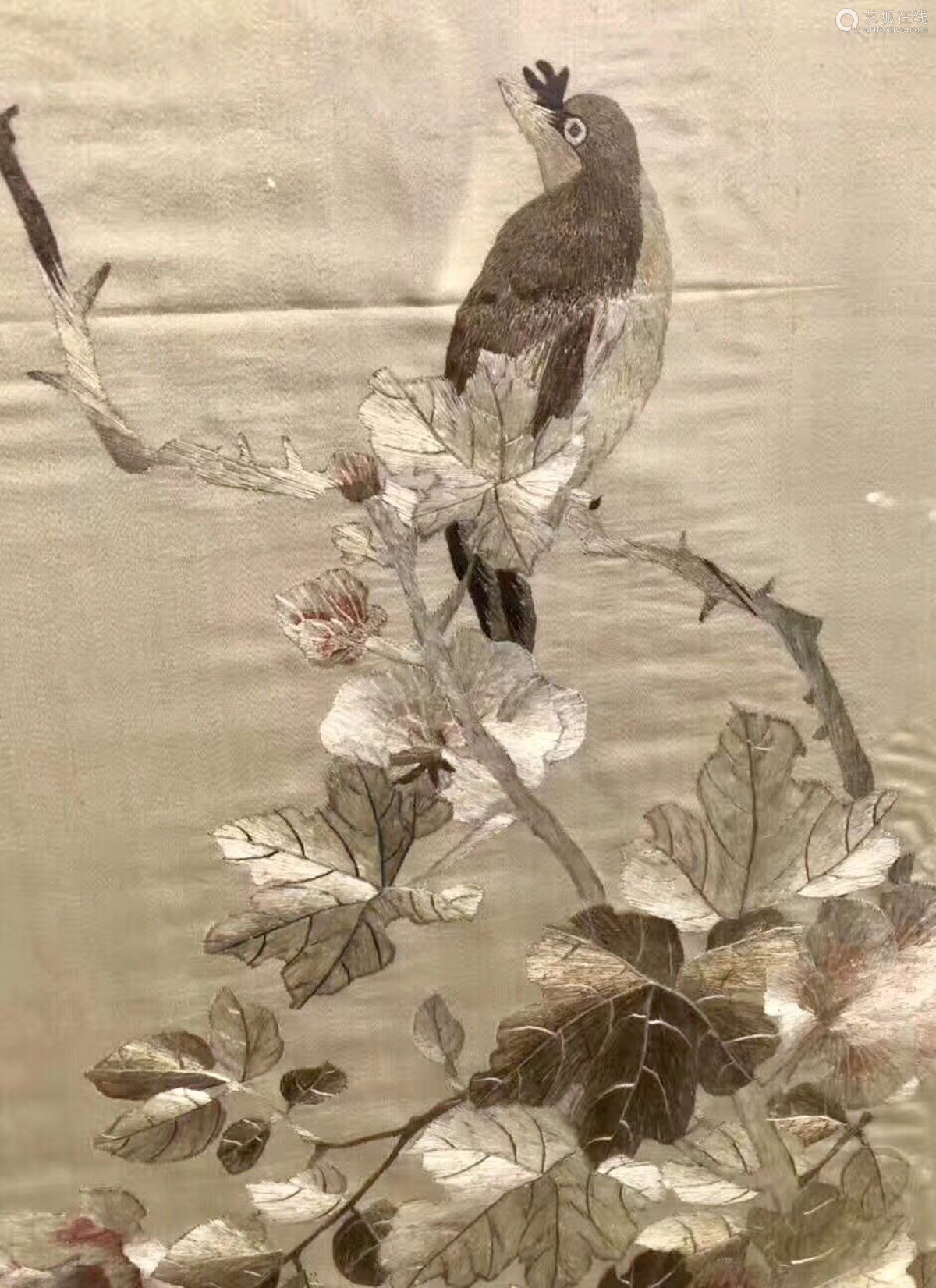 1912-1949, A SET OF FLORAL&BIRD PATTERN EMBROIBERIES, THE REPUBLIC OF CHINA