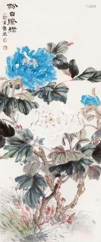 孔小瑜(1899~1984) 粉白滕绿 立轴 设色纸本