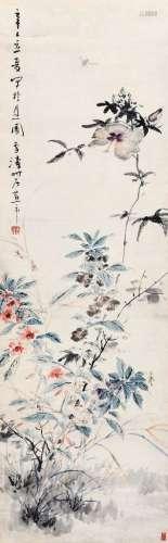王雪涛(1903~1982) 1941年作 花卉草虫 镜心 设色纸本