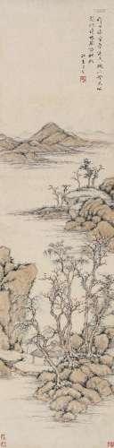 方薰(1736~1799) 山水 立轴 设色纸本