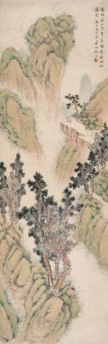 顾■(1835~1896) 山水 立轴 设色纸本