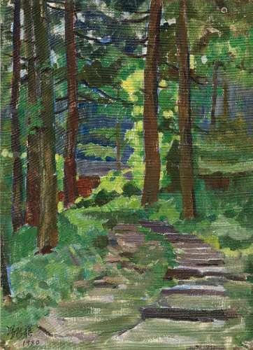 冯法祀(1914~2009) 1980年作 峨眉山之三 布面油画