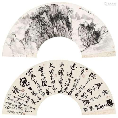 何加林(b.1961) 2007年作 书画合璧 纸本设色