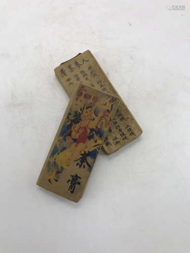 14-19TH CENTURY, A PAIR OF GINSENG PASTE, MING&QING DYNASTY
