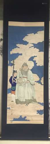 A SCROLL PAINTING OF ZHONGKUI