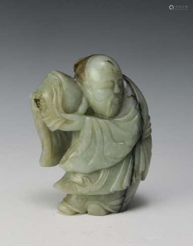 Chinese Jade Carving of Shou, Ming Dynasty