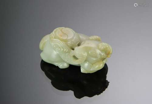 Chinese Carved Jade Ox, Early 18th Century