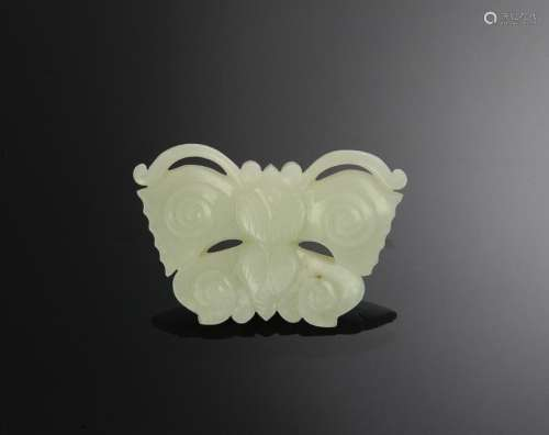 Chinese White Jade Butterfly, 18th-19th C.