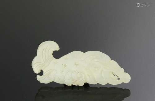 White Jade Fish Plaque, 18th Century or Earlier