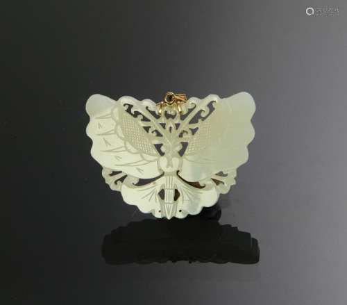 Chinese White Jade Butterfly, 18th - 19th Century