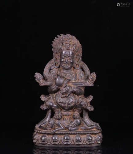 A HEISHI STONE CARVED BUDDHA STATUE