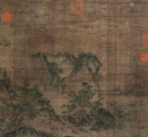 夏圭 山水 立轴 绢本