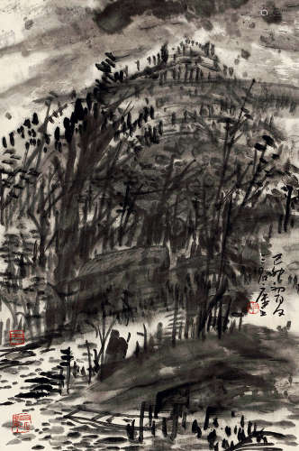 曾宓(b.1935) 山水 水墨纸本 立轴