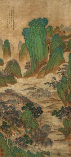 王翚(1632~1717) 云山楼阁 设色绢本 立轴