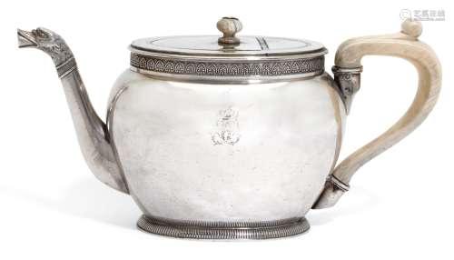 A French silver teapot, Martin-Guillaume Biennais, Paris, 1798-1809
