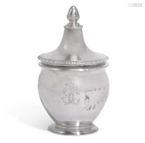 An Italian silver mustard pot, Luigi Vernazzi, Parma, circa1820