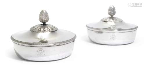 A pair of Italiansilver vegetable dishes and covers, Luigi Vernazzi, Parma, circa 1810