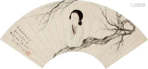 胡锡桂 寻梅 纸本 立轴