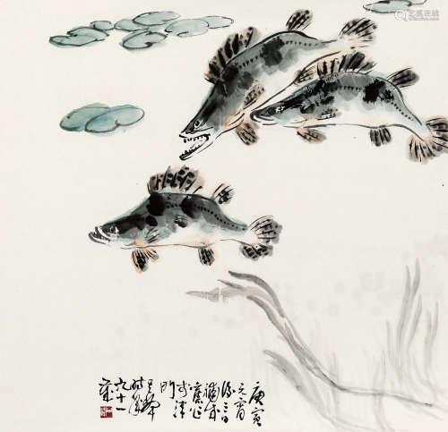 孙其峰(b.1920) 游鱼 纸本 软片