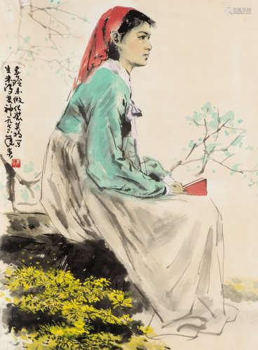 白庚延(1940-2007) 春玲 纸本 软片