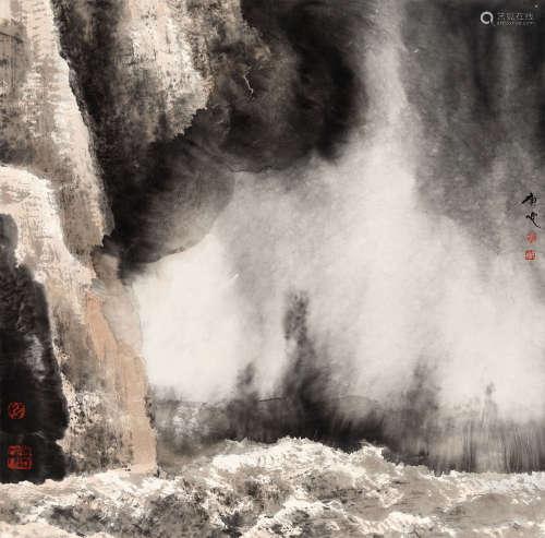 白庚延(1940-2007) 壶口 纸本 镜芯