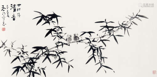 霍春阳(b.1946) 四时得情音 纸本 托片
