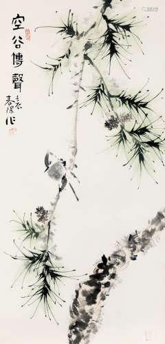 霍春阳(b.1946) 空谷传声 纸本 托片