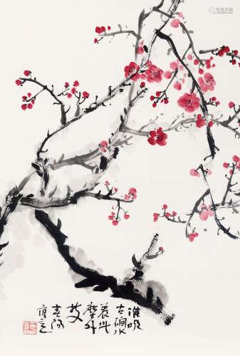 霍春阳(b.1946) 尘外枝 纸本 托片