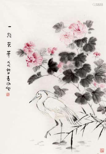 霍春阳(b.1946) 一路荣华 纸本 软片