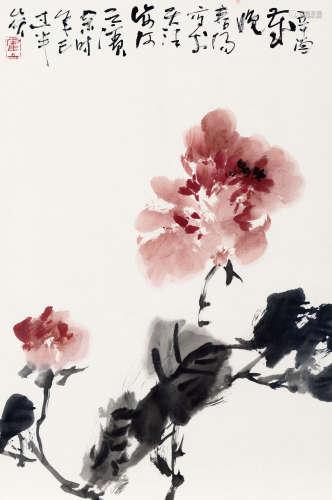 霍春阳(b.1946) 丹浓 纸本 软片