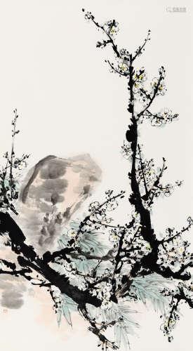 霍春阳(b.1946) 双清图 纸本 软片
