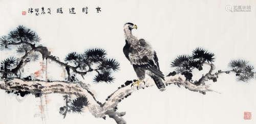 霍春阳(b.1946) 高瞻远瞩 纸本 软片