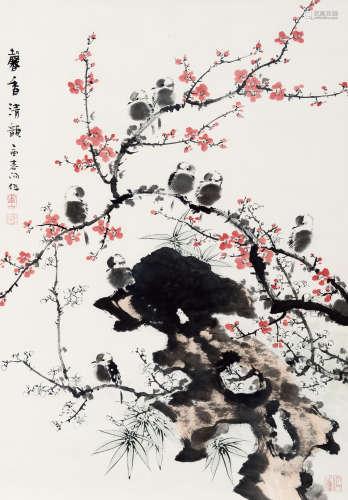 霍春阳(b.1946) 馨香清韵 纸本 镜心