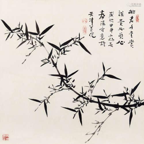霍春阳(b.1946) 非君多爱赏 纸本 镜心