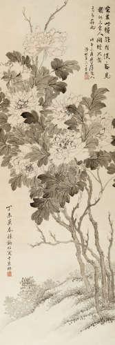 孙诵昭(1878-1968) 祥和 纸本 立轴