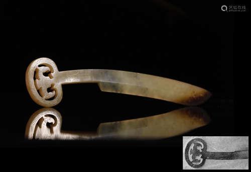 漢代 環首玉刀